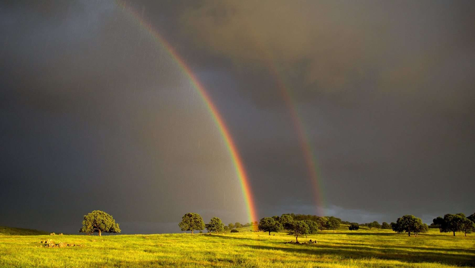 Double Rainbow.. Nikon 5200 f/4.5 1/80 sec. ISO 400 at 18mm with 18-55mm lens.