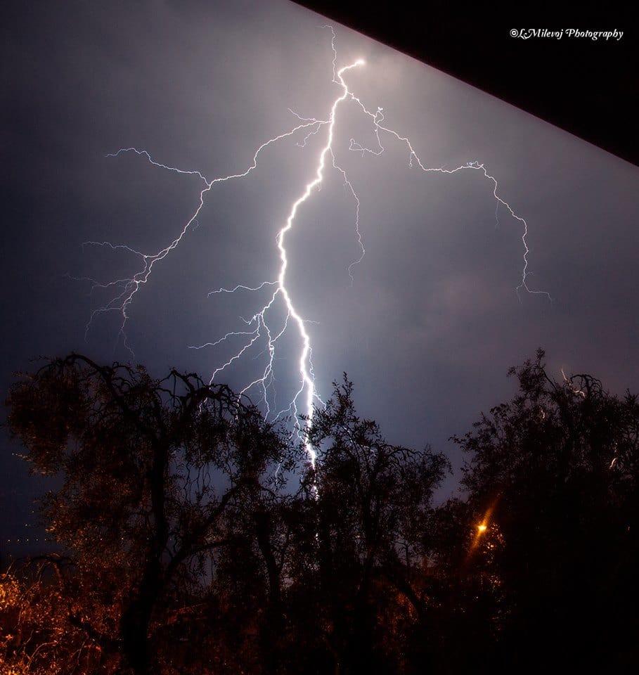 Thunder near my home Lake Garda Italy 20.april.2013