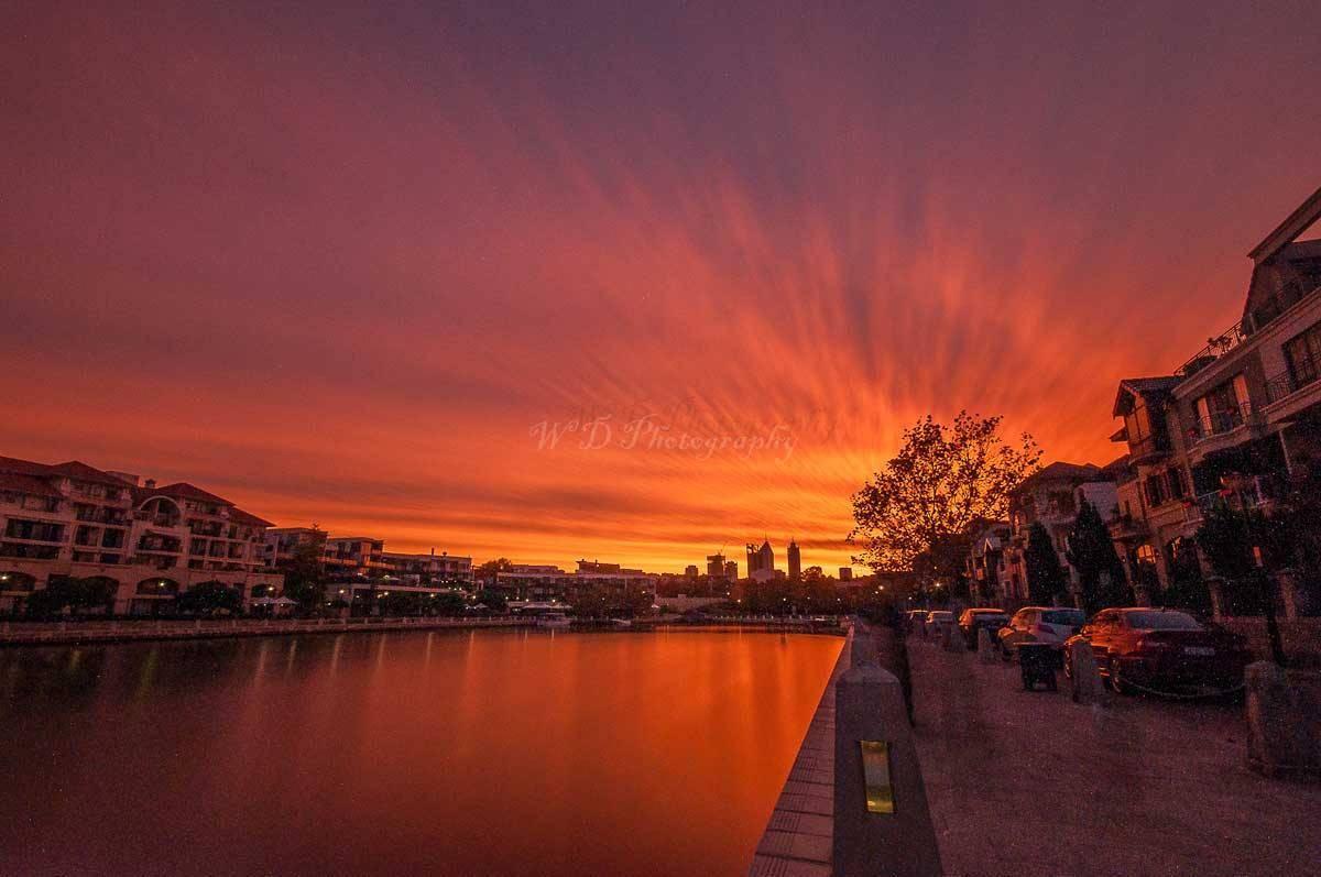 last nights sunset perth Western Australia