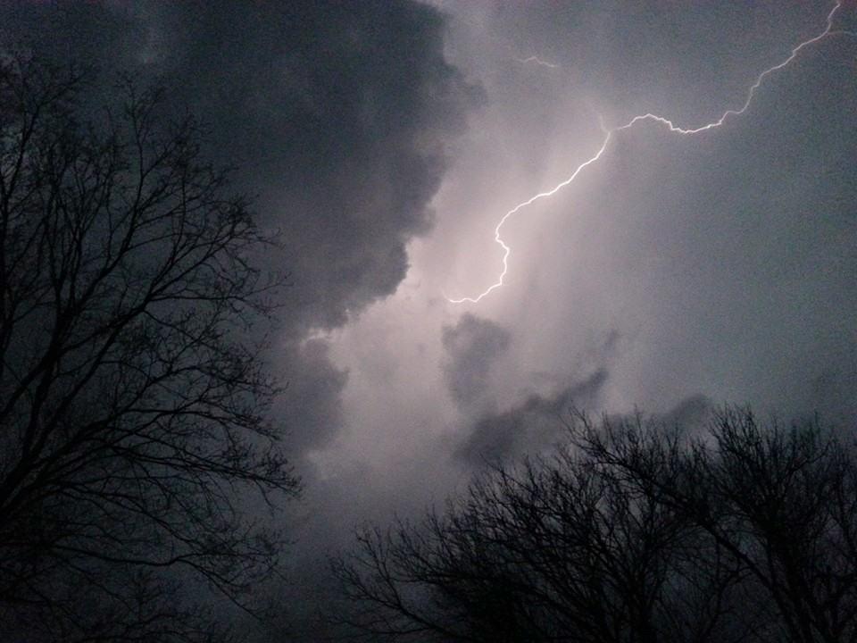 Taken in berryville arkansas the other night during an intense thunderstorm enjoy!