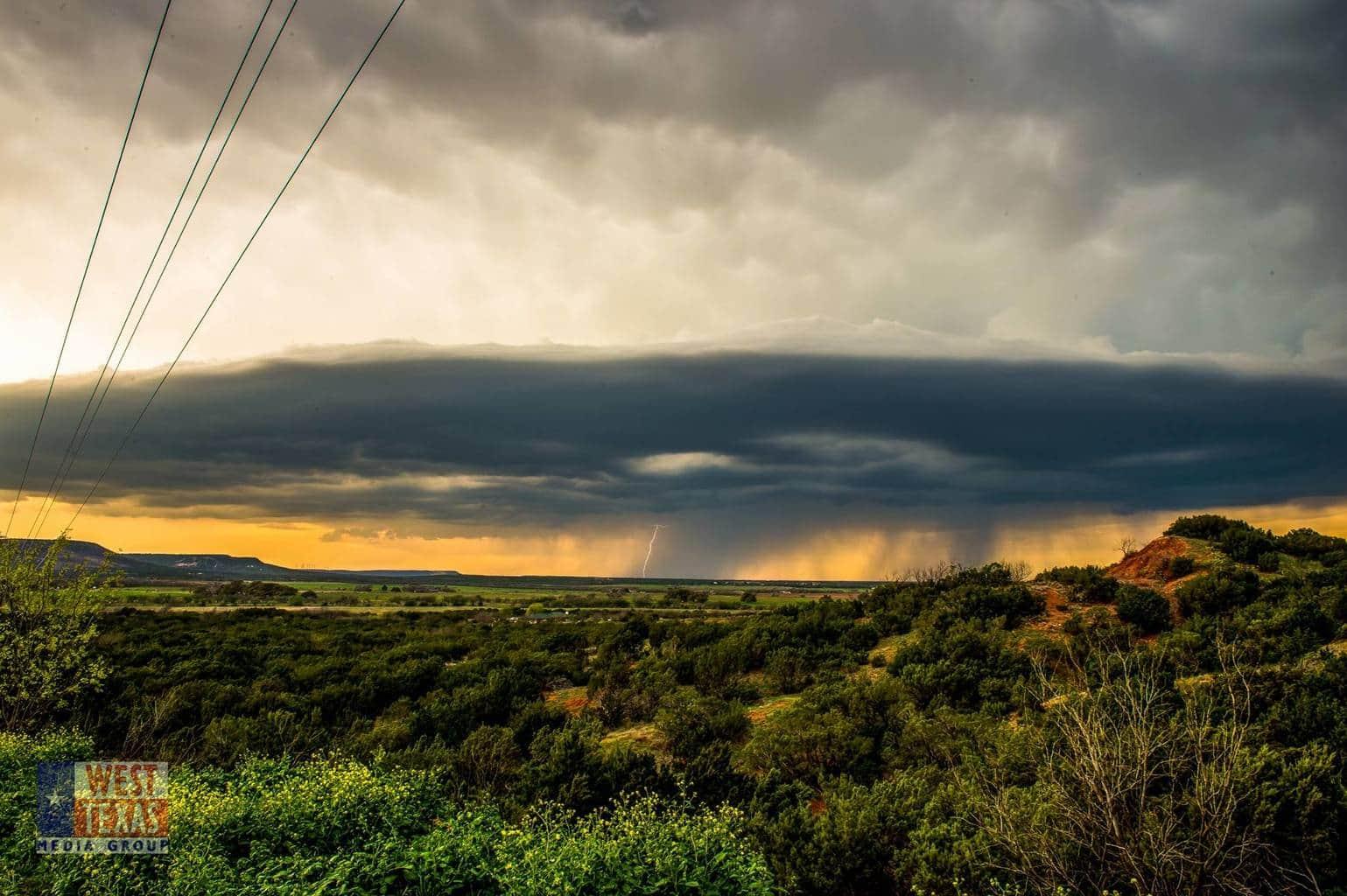 This evening near Buffalo Gap, Texas