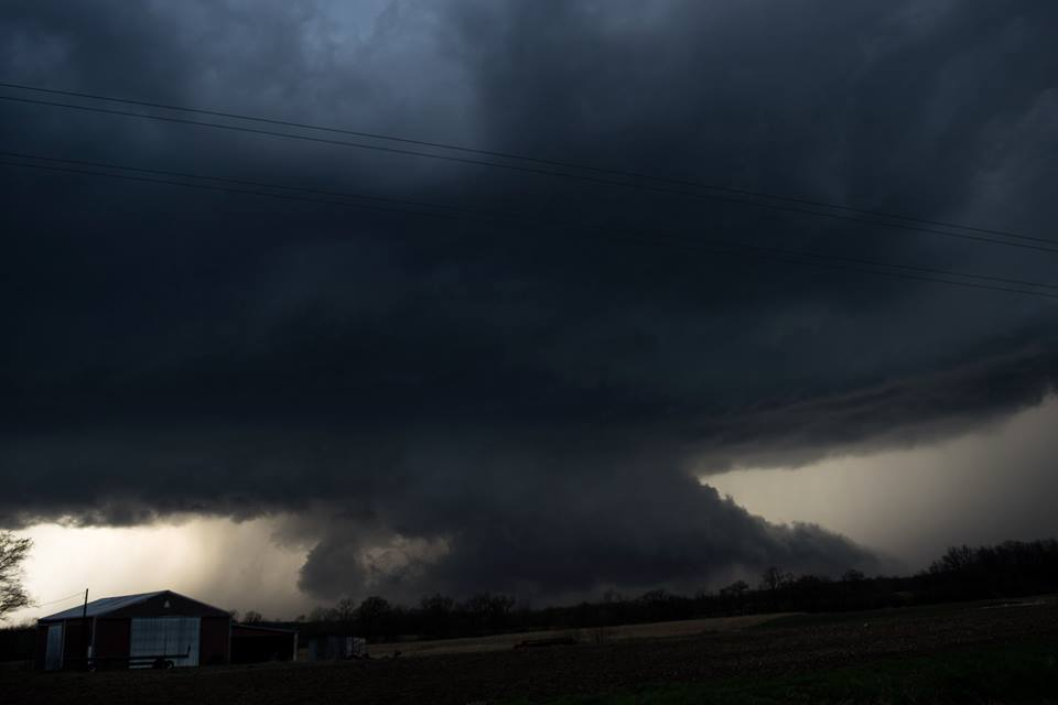 Supercell from Central Illinois last Thursday.