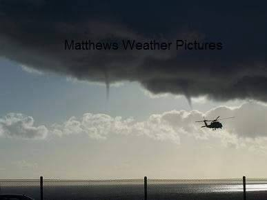 TBT - I came across my 1st waterspout / Severe Weather Photo I took about 10years ago of twins off the coast of Cali with a coast guard helicopter flying in front of them. Wish I still had the original photo. Happy Thursday everyone!
