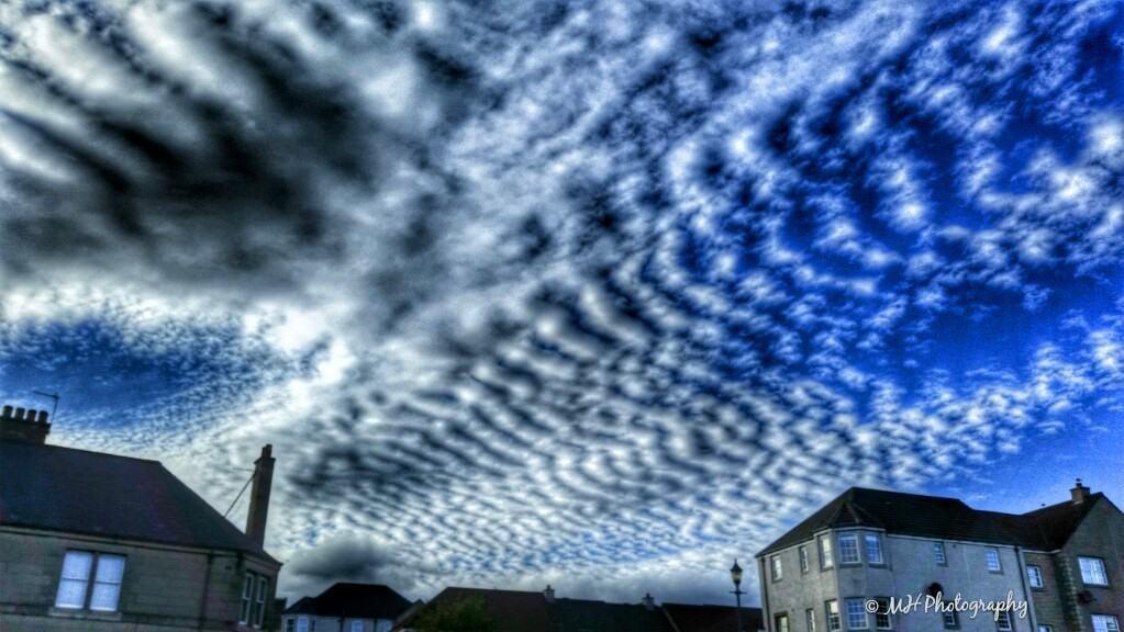 Amazing Mackrell Clouds over Fife, Scotland last night