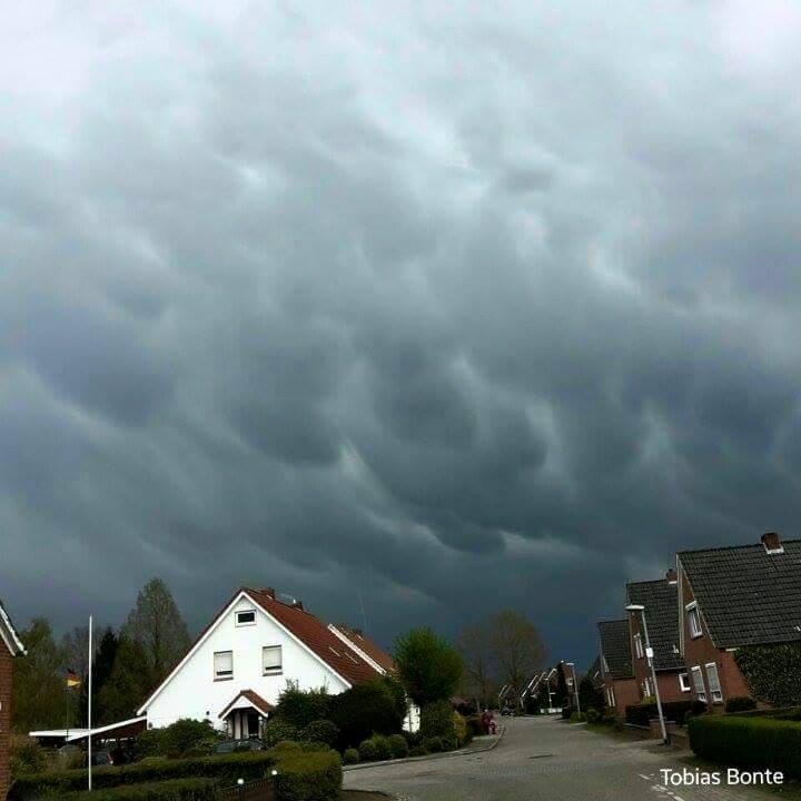 Mammatus Clouds in Northwest Germany .