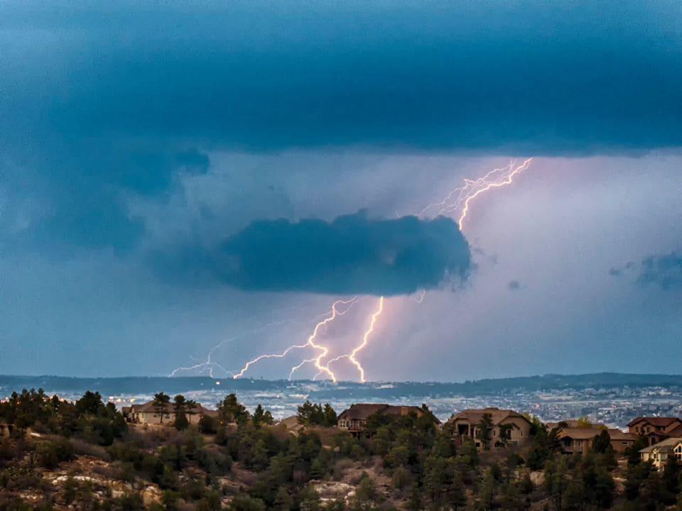 Lightning over Monument CO 4/30/15