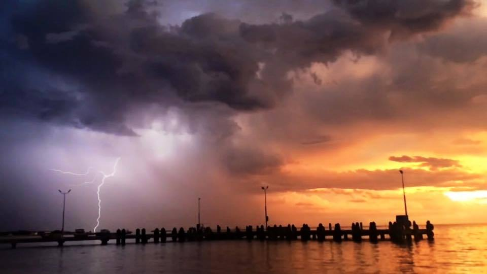 Incredible sunset with lightning during February this year in Lancelin Western Australia screened shot of my video