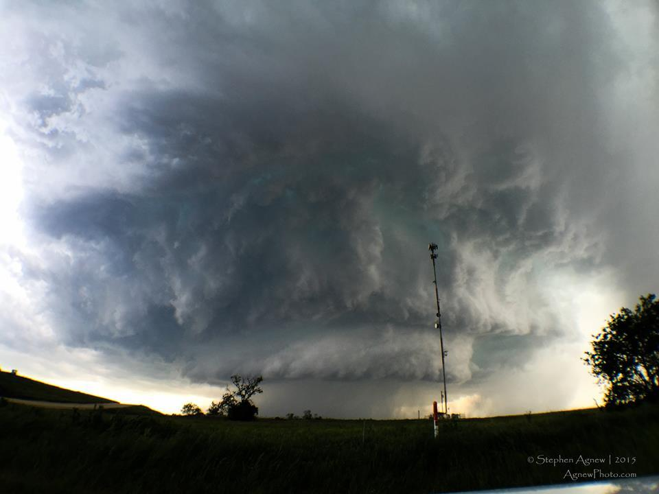 This was the supercell in Dublin, TX this last Sunday that dropped a couple of tornadoes. I was originally very close to the storm where I shot some really nice time lapse video but had to pull back after being hailed on. Along the same lines, this was the same storm that destroyed my rental car with golfball sized hail lol — in Dublin, Texas.