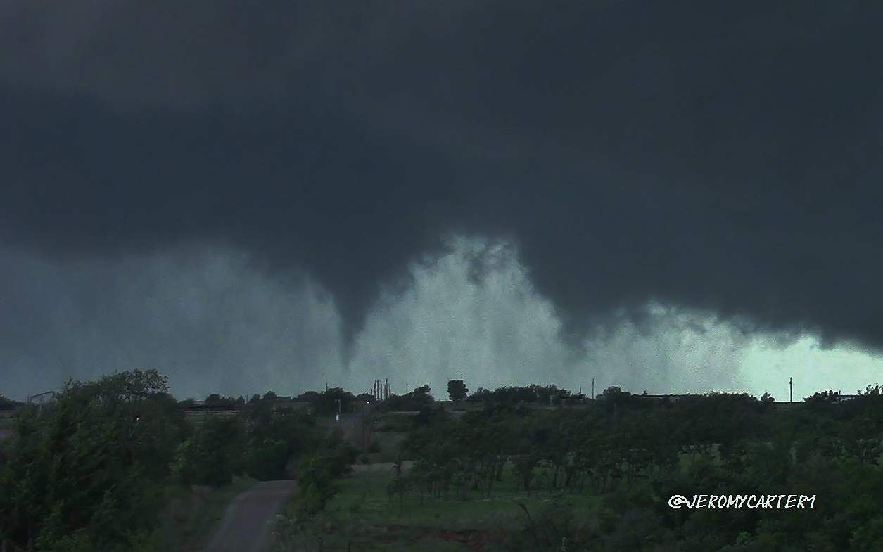 Just a screen Grab but this was my view of the Bridge Creek tornado as it was forming