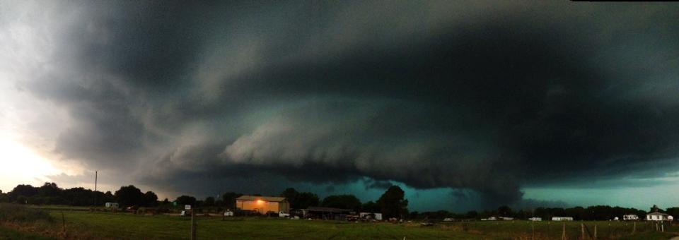 Tornado warned cell in Whitney, TX earlier