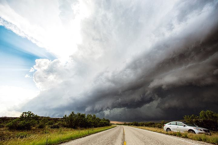This epic supercell began to gust out producing dynamic shelf structures in southern West Texas on 19th May 2015. WIthWilloughby Owen and Simon Benson.