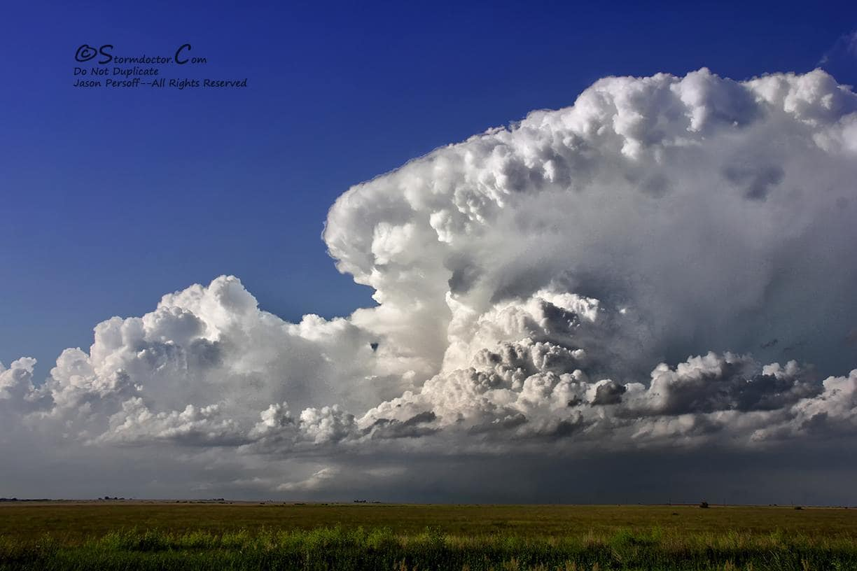 Stunning dryline supercell near Post, TX, on May 19, 2015. I love the Caprock and a dryline--doesn't get much better for contrast and color than in those circumstances
