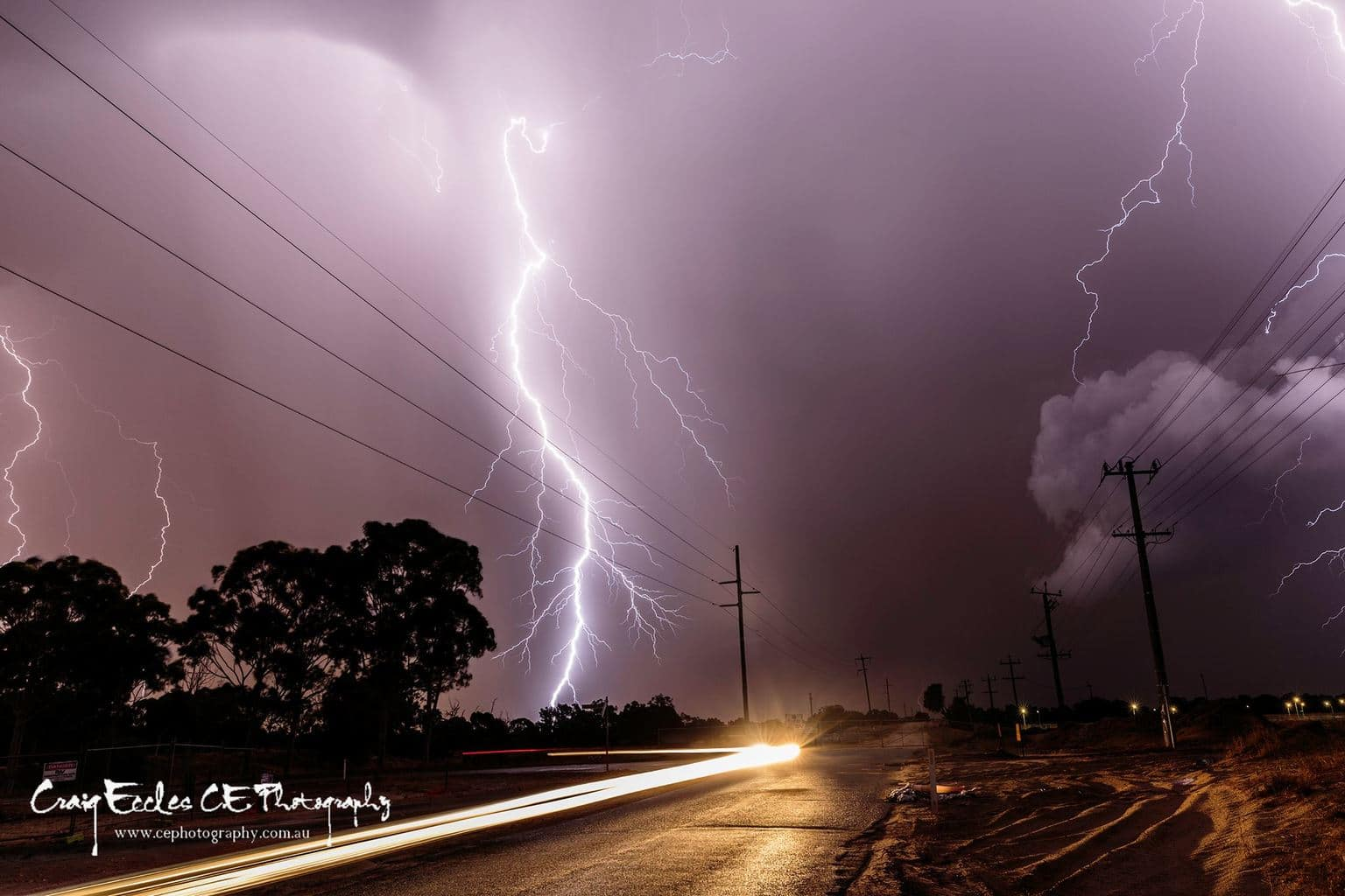 Earlier this year in Perth Australia we had a crazy night, strikes all around me, strong gusty winds, heavy rain and not to mention 6 power poles just down the road were snapped in half.