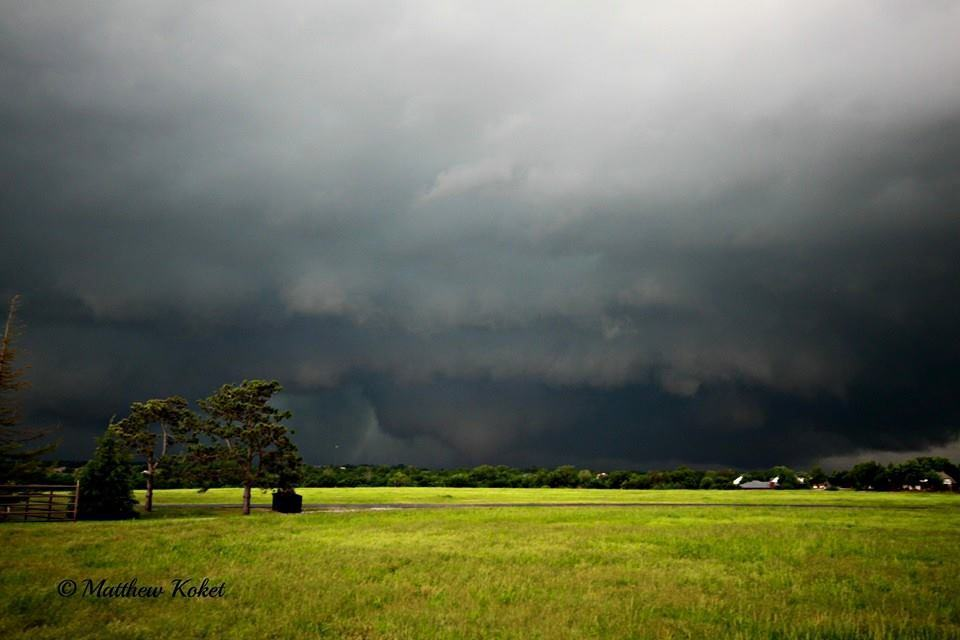 Large cone tornado near Newcastle, OK 5-6-15