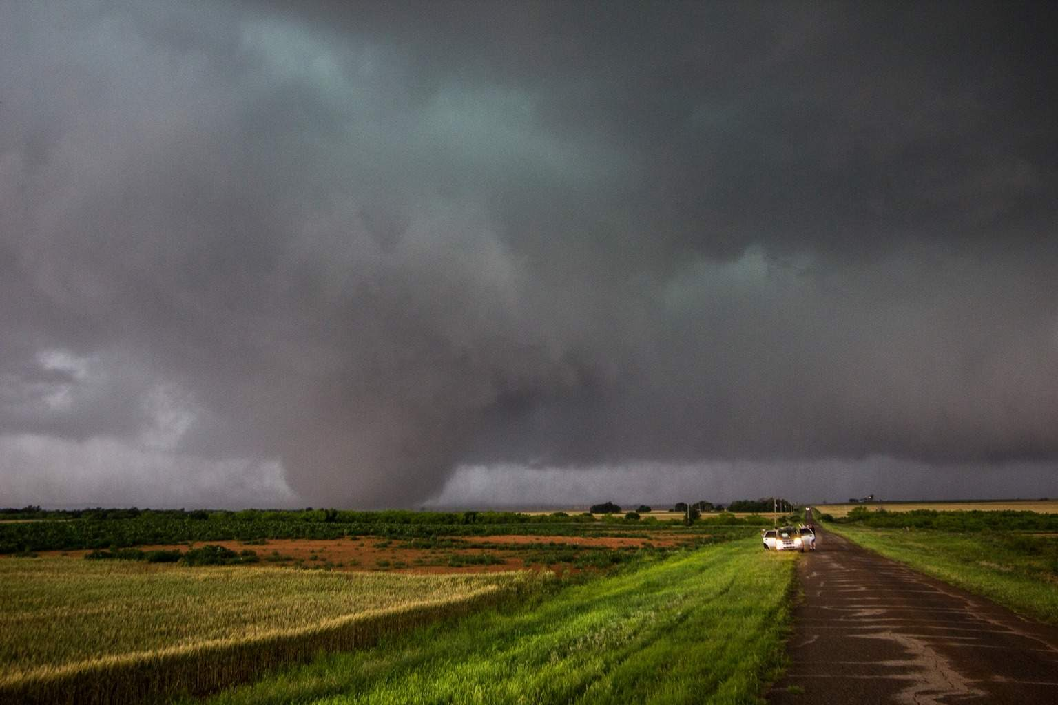 Elmer, OK tornado at what I believe is its prettiest.Yesterday 5-16-15.