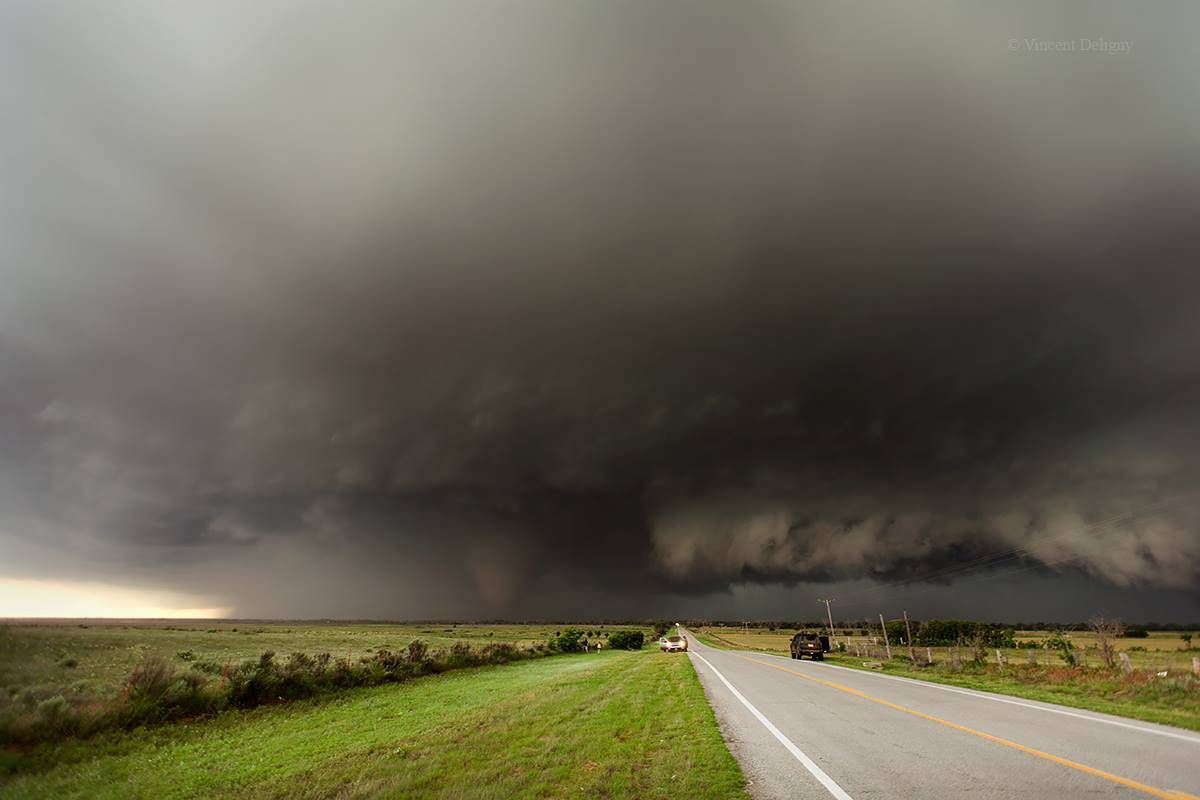 Tipton OK May 16 2015 Huge tornadic supercell  3 tornadic supercell encountered that day (Hedley, Tipton and Walters) What a big day! A bientôt (see you soon)