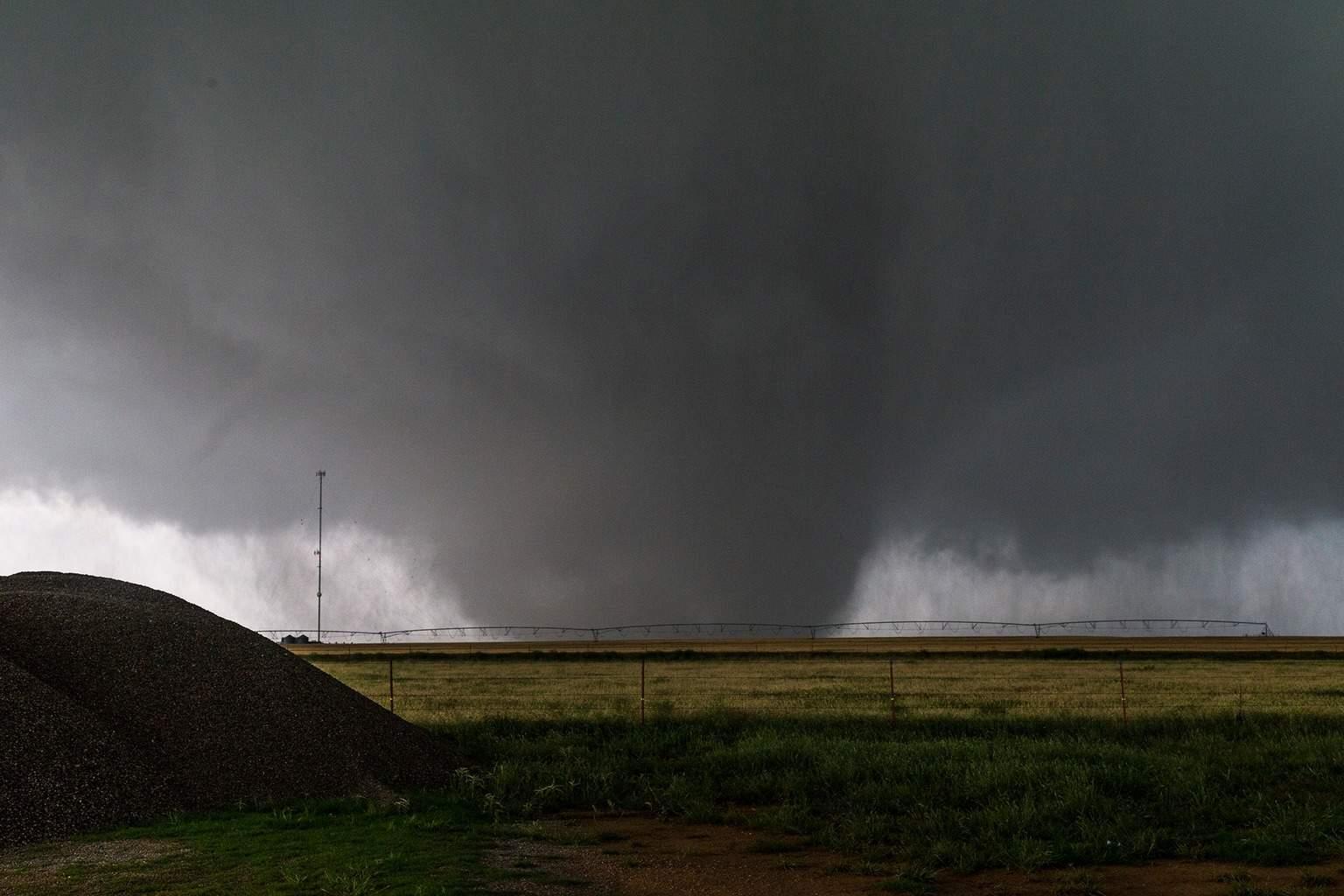 Large wedge tornado just south of Elmer, OK on Saturday. My best tornado shot so far!