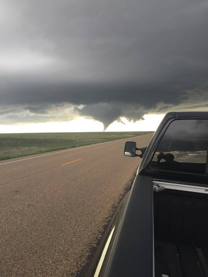 My humble submission from yesterday's chase in Colorado. Taken with an iPhone west of Cheyenne Wells.
