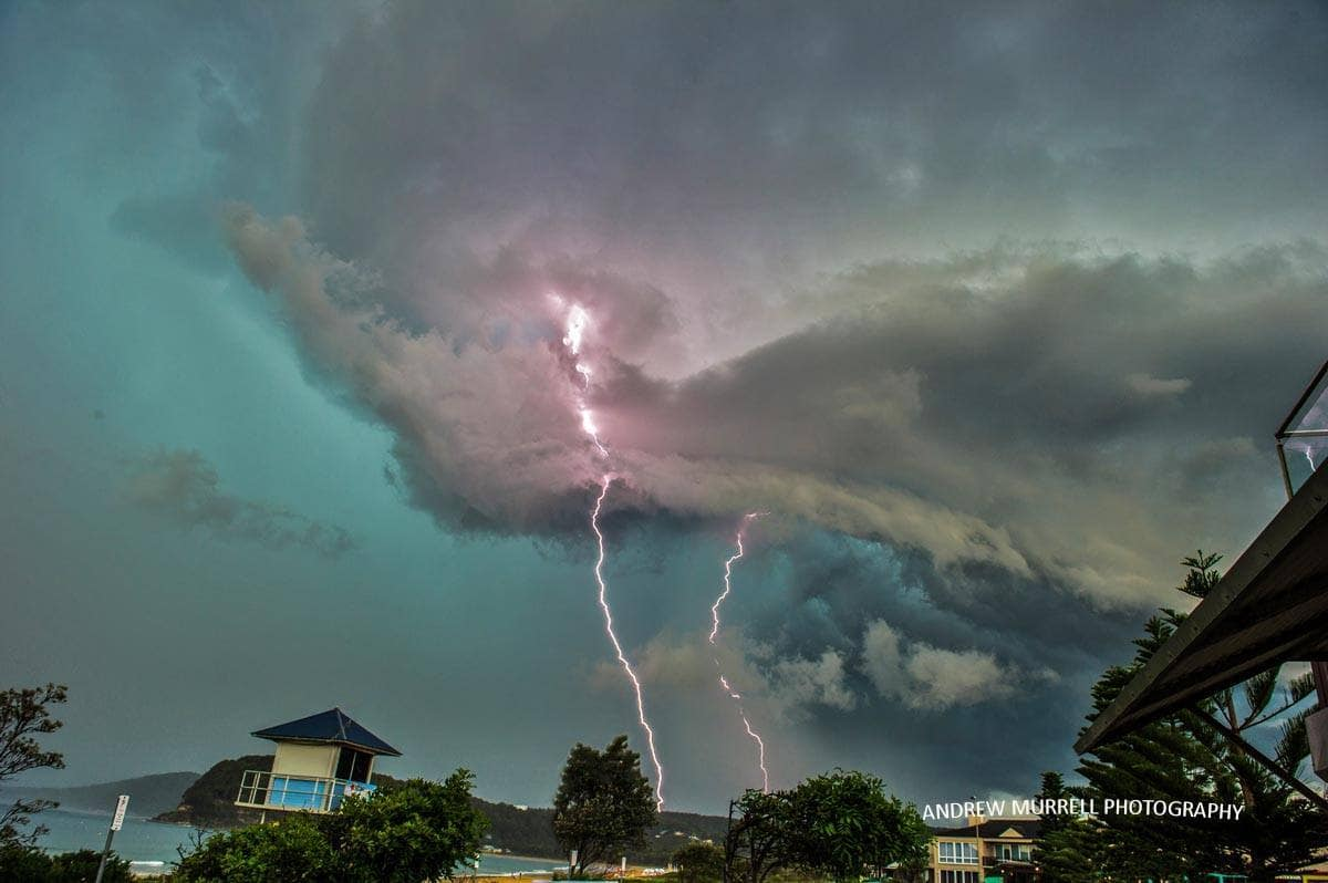 Savage storm that struck Umina on the NSW Central Coast Australia. The storm held off raining long enough to catch some great lightning shots.