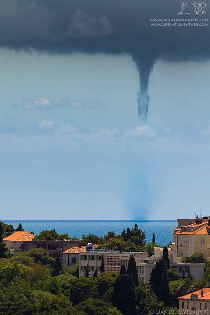 Another waterspout near the coast of Dubrovnik, Croatia, 30 May 2013.