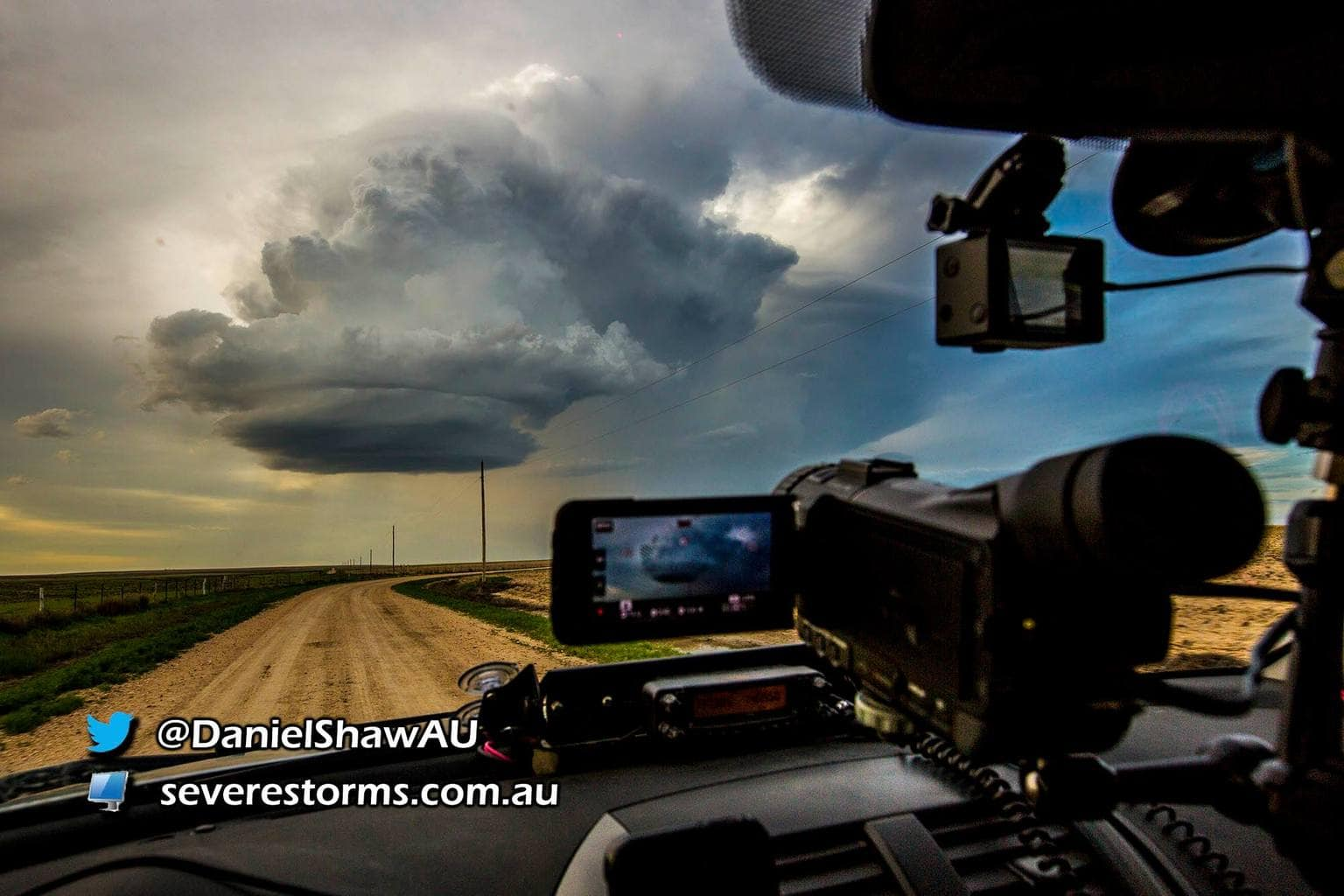 A storm cell unleashes its beauty on the Colorado/Kansas border.