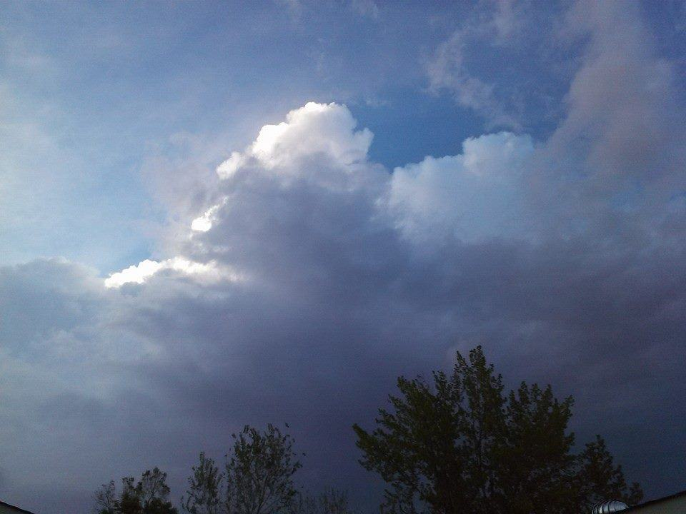 Just took this outside my house...the sky is rumbling again.