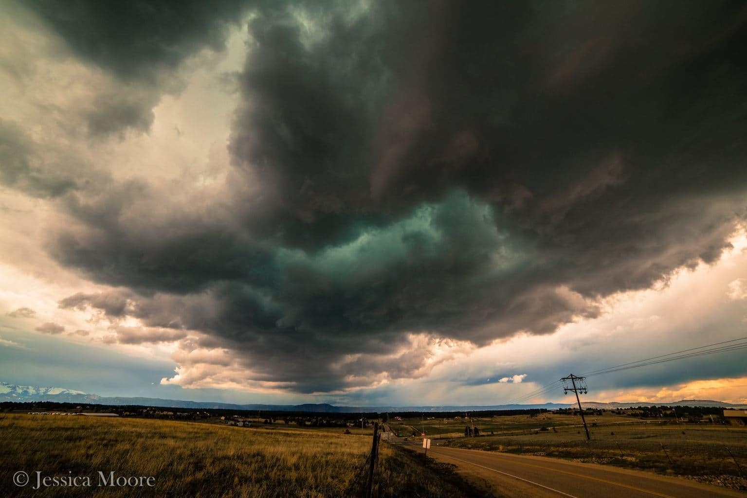 Very quick edit from yesterday, just north of Black Forest, CO. I believe a small funnel was spotted but no confirmed touchdowns. Had fun playing in little marble-sized hail before going to work! Also may or may not have sliced my arm on the barbed wire fence to get this shot... 5/1/15 - Black Forest, CO