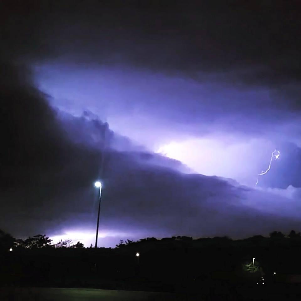Lightning strike from severe warned storm. Berkshire County, MA 5/19/2015