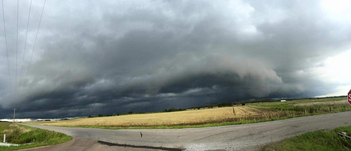 Here is a pano of my storm I chased today in Snyder Oklahoma (missed all the good storms in central Oklahoma)