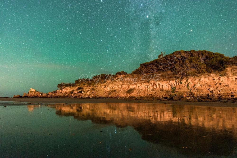 Airglow, Anglesea, Australia. The sky really was green!