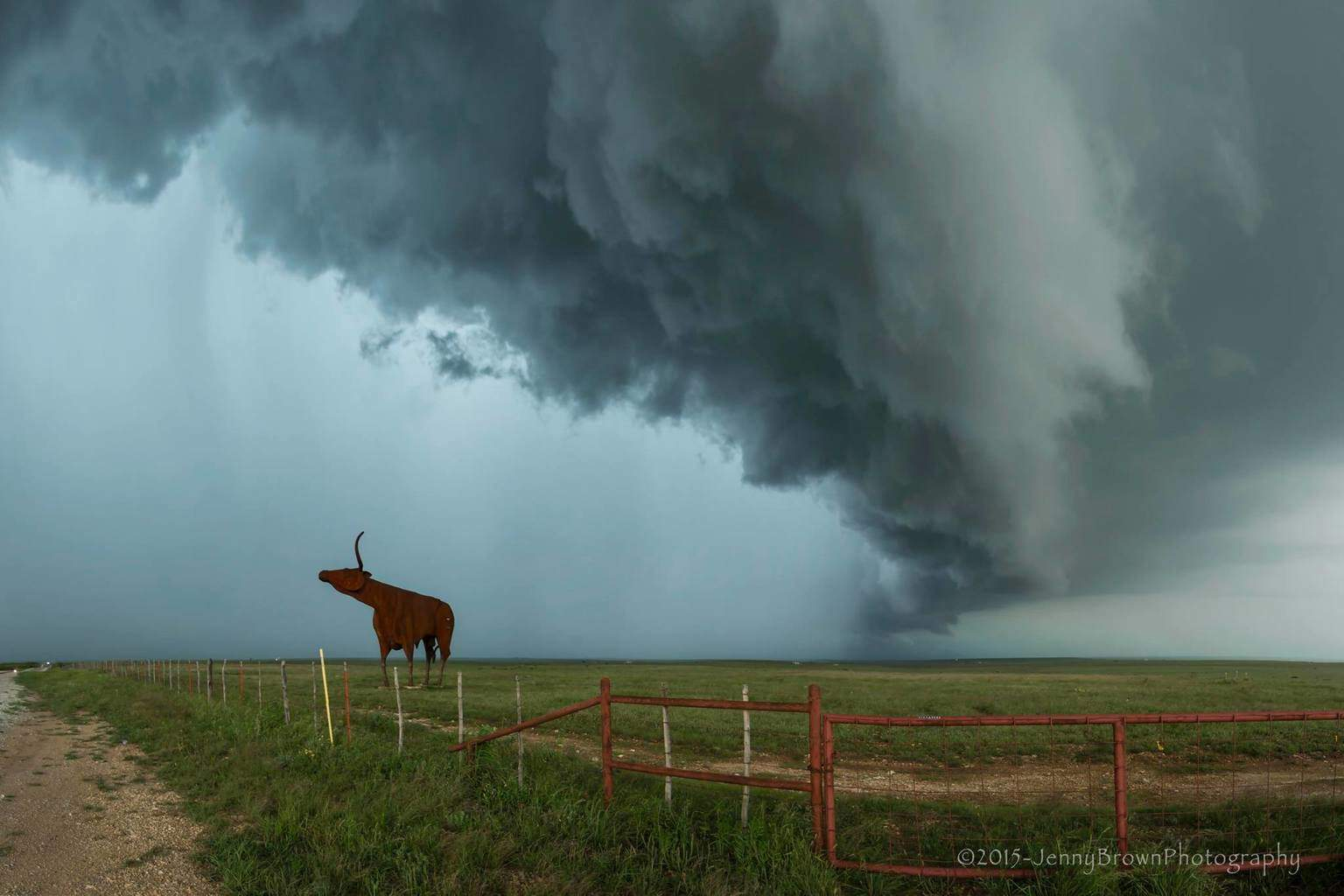 West of Throckmorton, Texas this past Friday, May 8th. I've waited so many years to get just this shot....