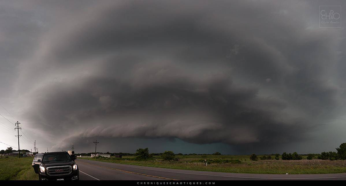 Monster HP supercell in Whitney, Texas, on May 10th 2015.