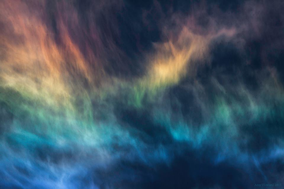 A brilliant circumhorizontal arc around noon today, the best occurrence I've ever seen 300mm detail, uncropped. Albuquerque, NM 5.3.15