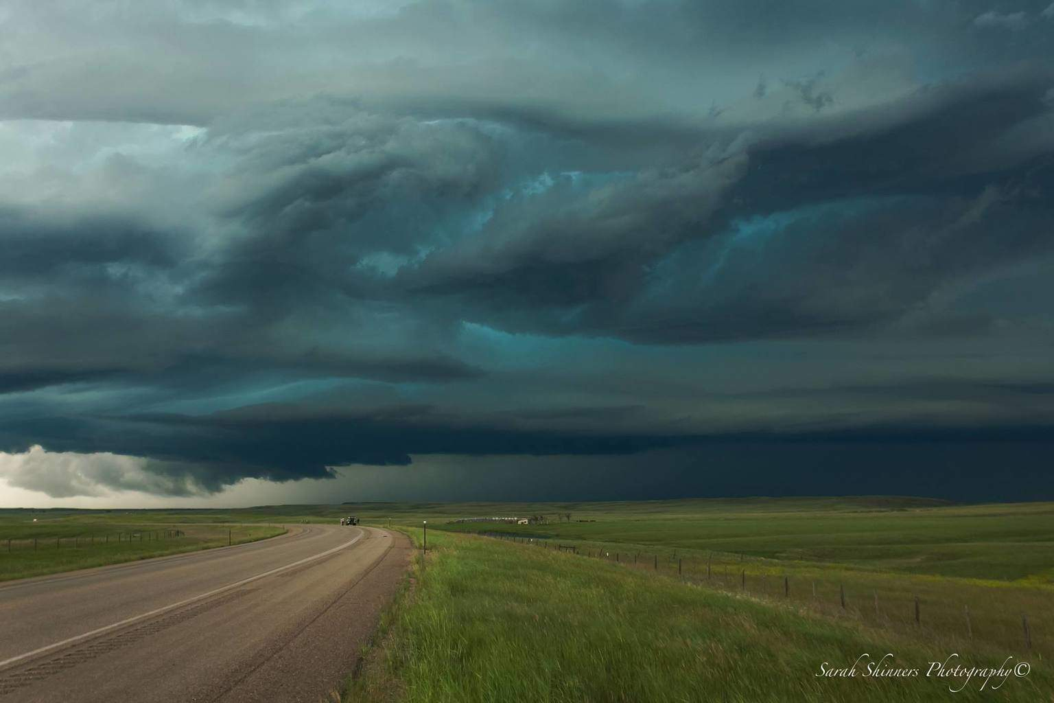 Alzada, Montana Super Cell What an amazing storm we chased from Montana through Wyoming to outside Rapid City, South Dakota. There were multiple tornado warnings, reports of grapefruit sized hail, 80-100 mph winds and the latest report of an EF-2 Tornado (Hereford, SD)