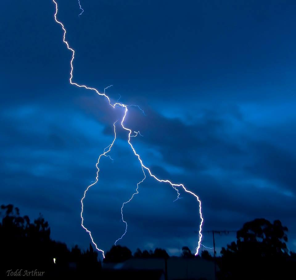 Lightning Strike over Lemon Grove Penrith NSW - Australia.