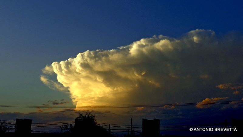 Magnificent cumulunimbus at sunset... Pure power... Mother Nature´s energy!... Taken last year in Santiago del Estero, Argentina
