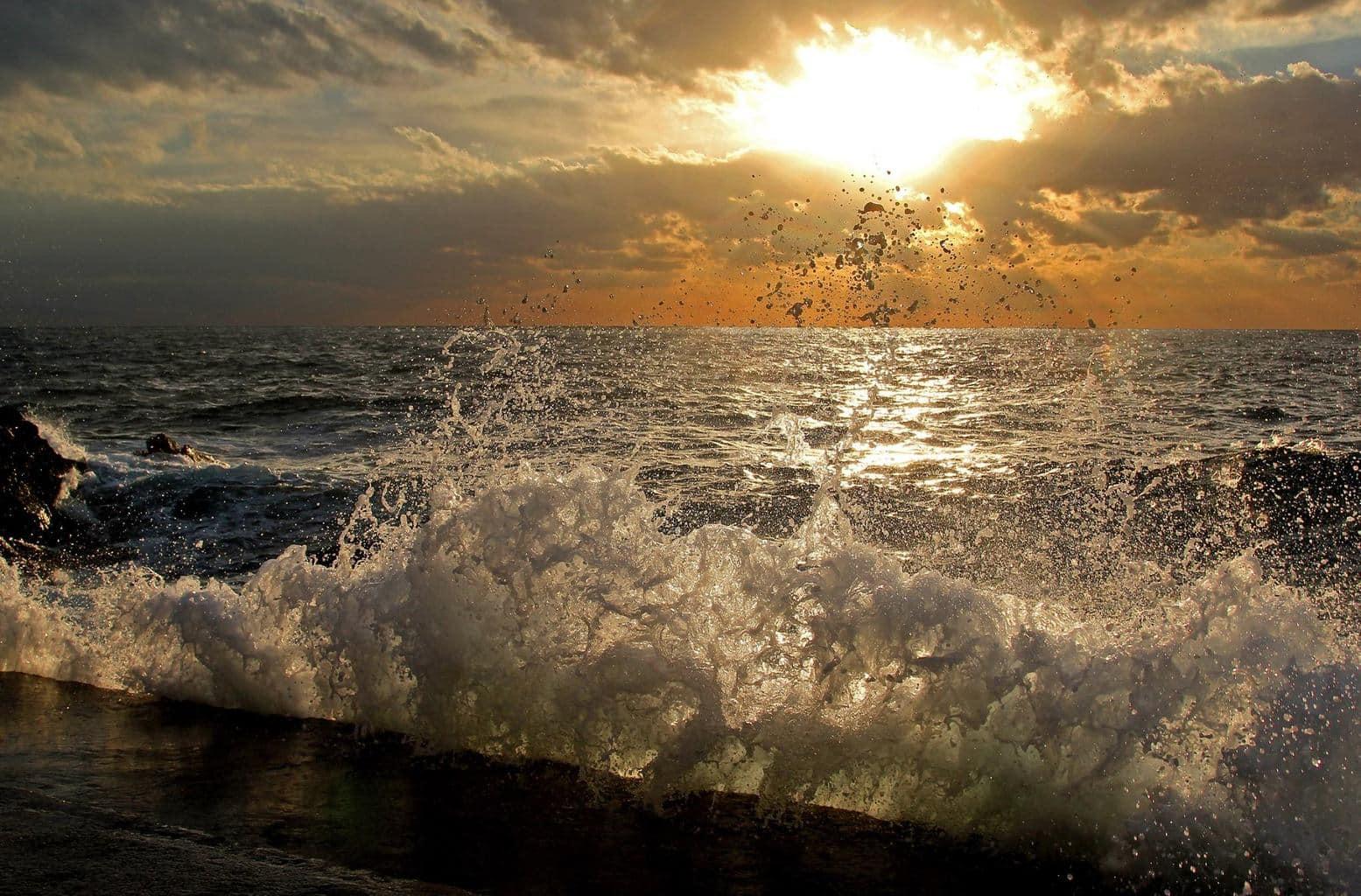 Afternoon on the Adriatic sea.Dubrovnik- Croatia.