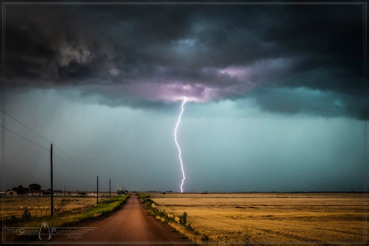 Elegant Lightning Shot Northwest of Blair Oklahoma on June 12th 2015. Enjoy