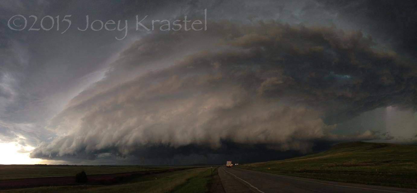 Unbelievable cell NW of Belle Fourche, SD today!