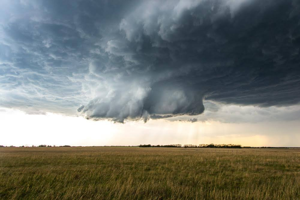 Nice wall cloud near Wichita, KS that produced a brief tornado about 5 minutes after this shot was taken.