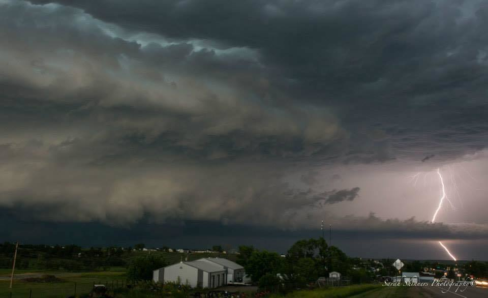 Super cell approaching Belle Fourche, SD on June 19th.