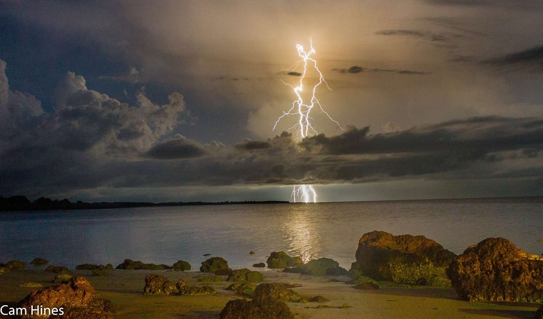 December 21 last year in Weipa, far north QLD Australia. One of the almost nightly light shows just offshore during the southern hemisphere monsoon season.
