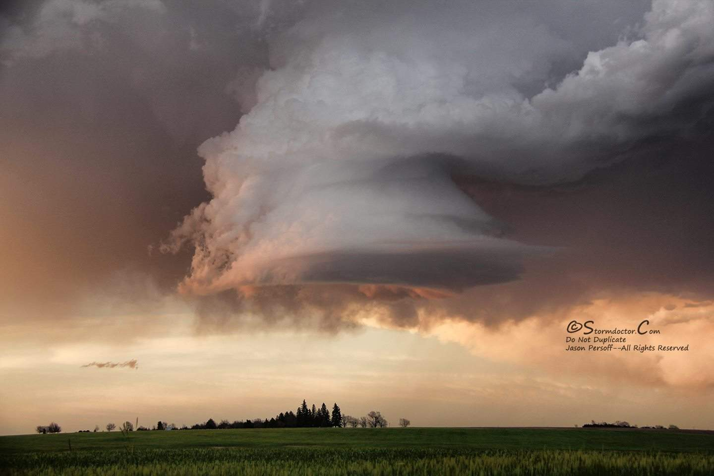 Probably the most fun sunset I've ever witnessed spawned entirely by this little guy here: a persistent mesocyclone for hours slowly trotting its way over the skies near Sydney, NE, on 6/2/2015. Mothership incoming
