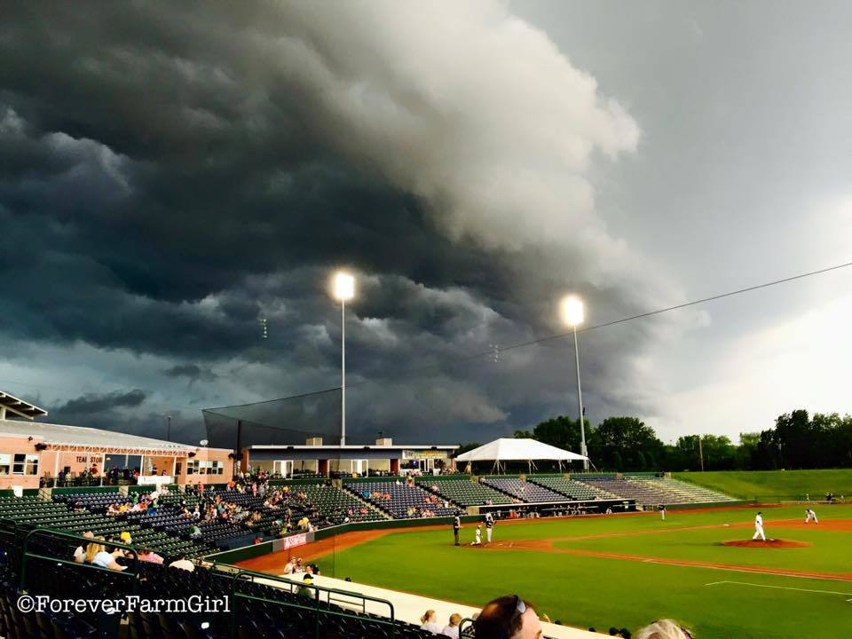 Storm coming over the Baseball game- The Corn Belters  Normal, IL.Storm coming over the Baseball game- The Corn Belters  Normal, IL.
