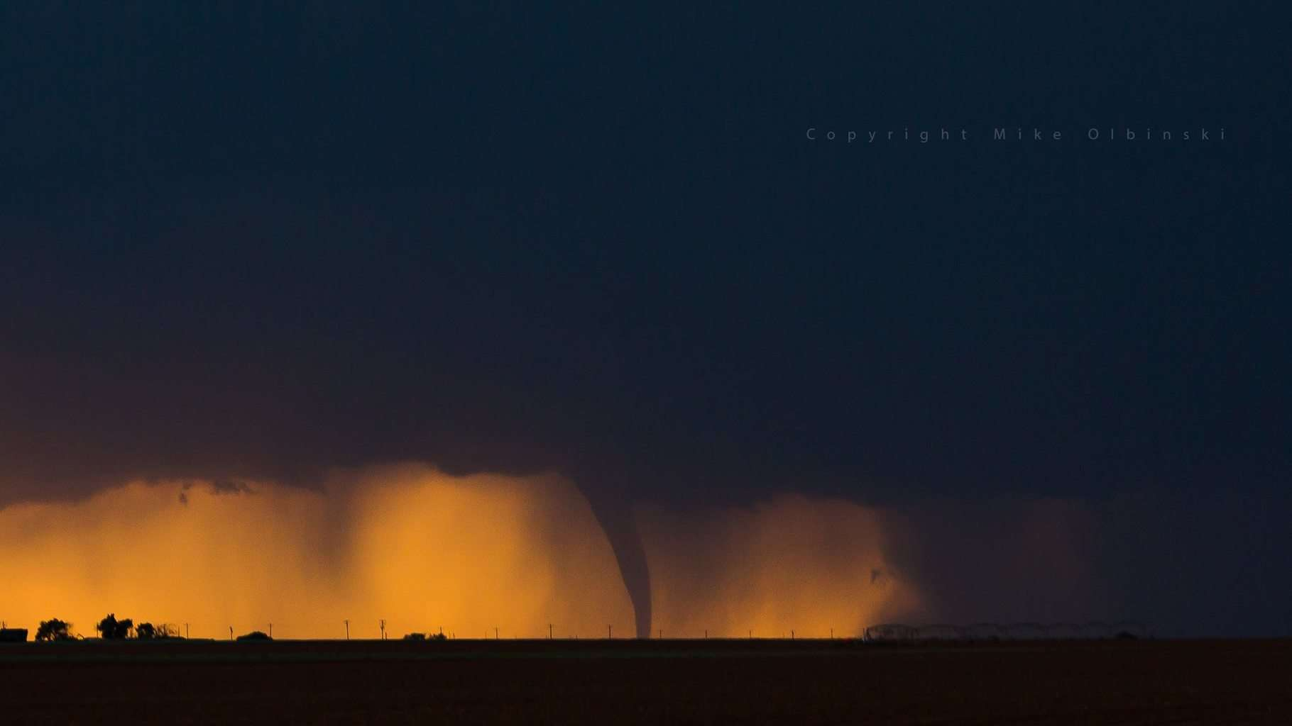 The Dora tornado on Friday from the eastern side...with the setting sun and beautiful colors creating a gorgeous silhouette!