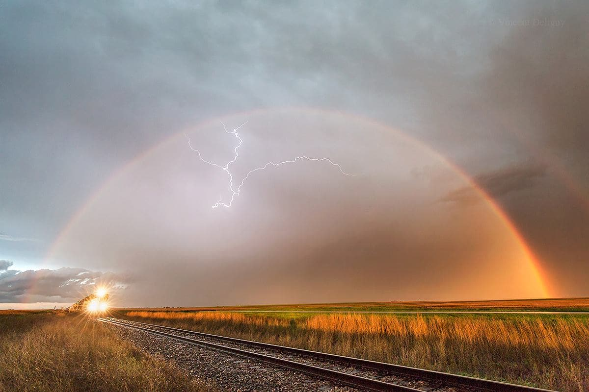 May 31, 2015 / Sharon spring KS Lightning road Nice chase yesterday near Cheyenne wells.