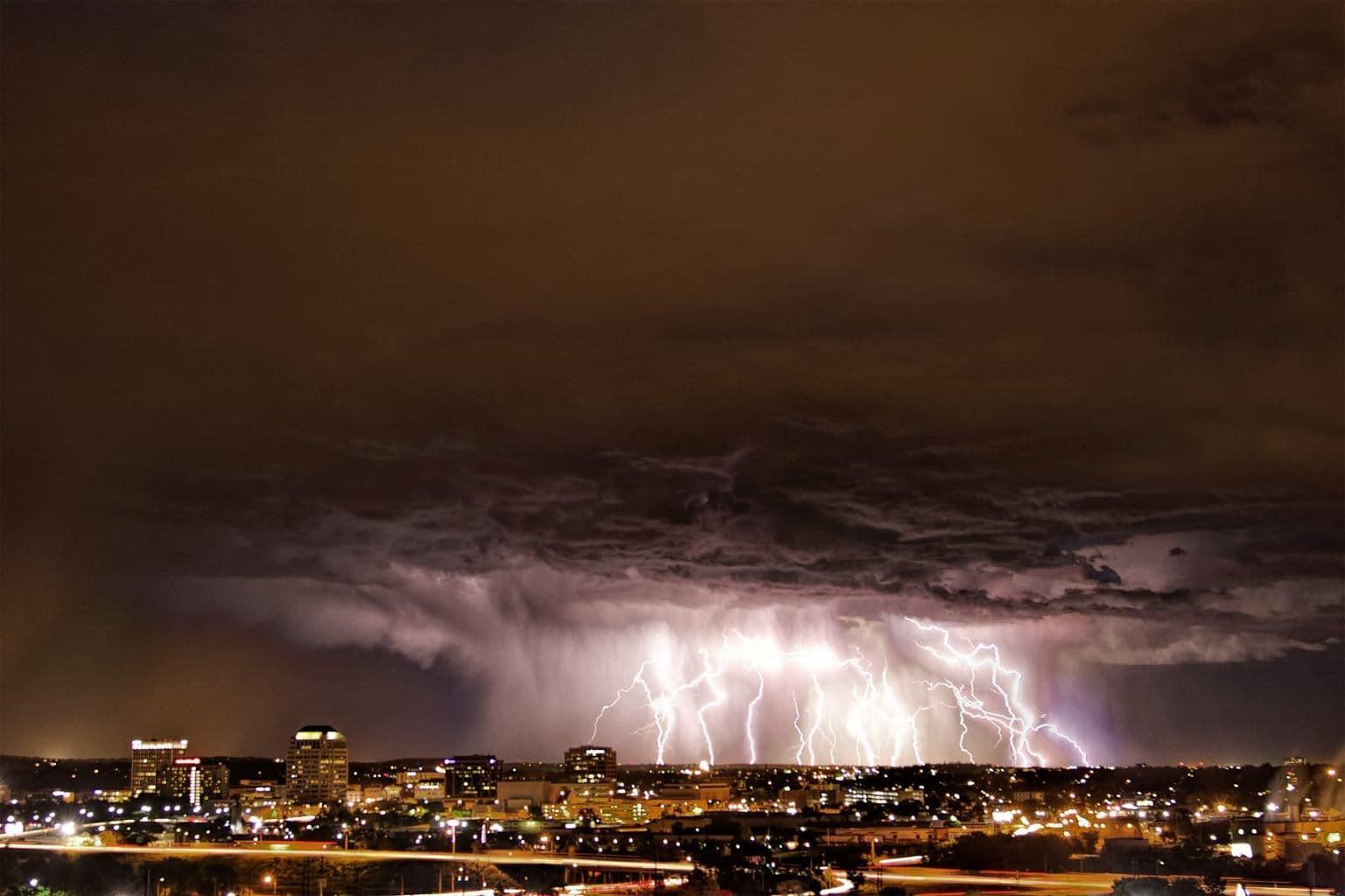 A storm passing thru Colorado Springs provided quite a lightning show.