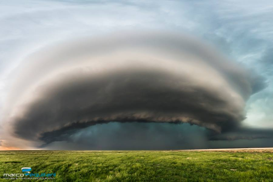 Pano shot of the supercell near Lamar, CO - May 24, 2015