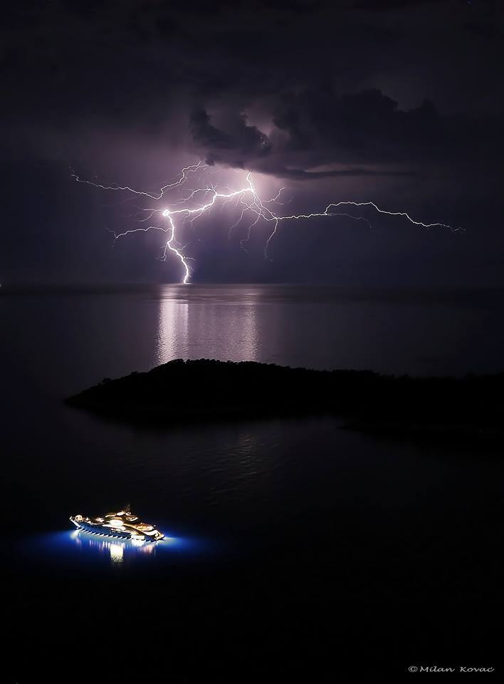 Local lightning near Dubrovnik-Croatia, 9.6.2015