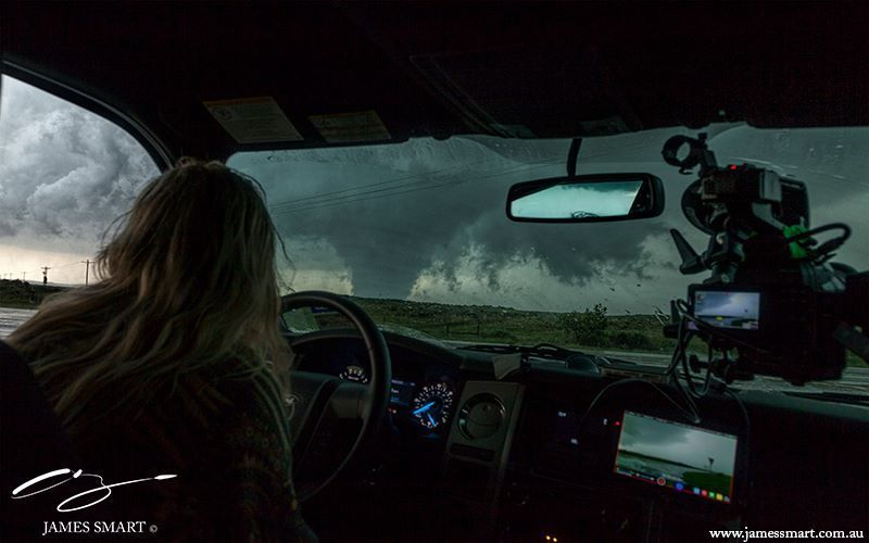 Gorgeous tornado near Canadian, Texas. Perspective from the inside looking out. 24th May 2015